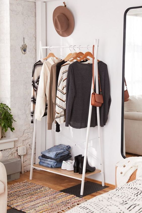 rack garment for small bedroom