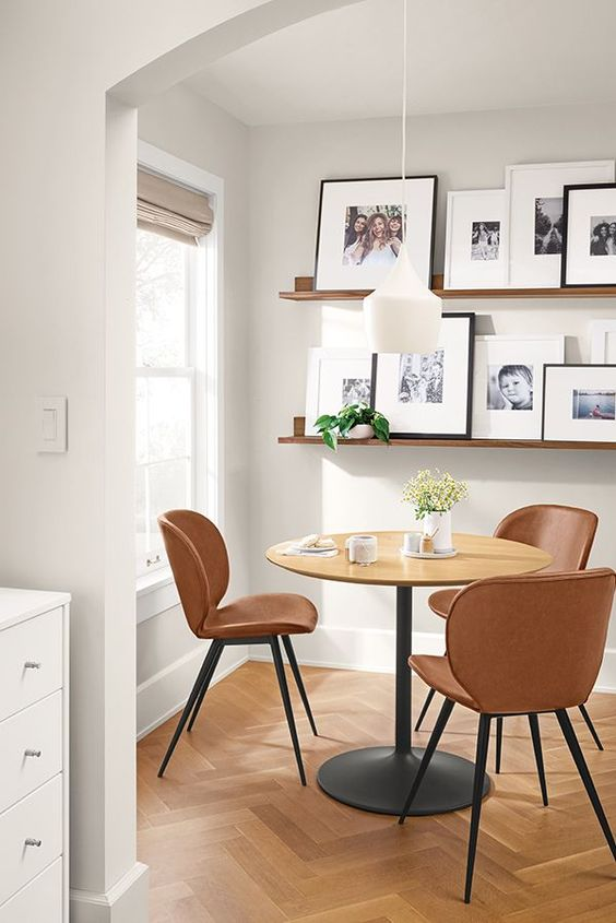 scandinavian small dining room