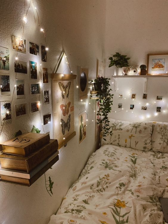 string light bedroom decoration
