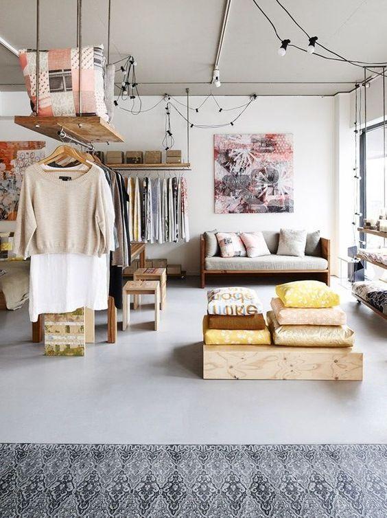 open wardrobe for tiny apartment