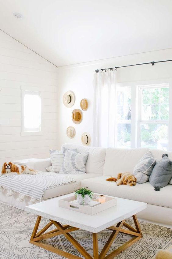 bright summer living room
