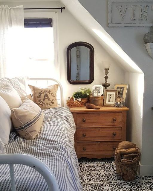 aesthetic attic bedroom