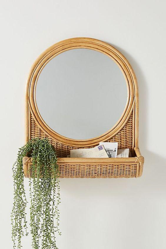 rattan mirror frame