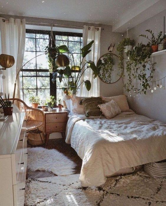 white cozy bedroom