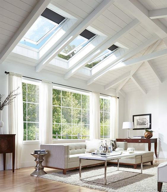 skylight window for bright living room