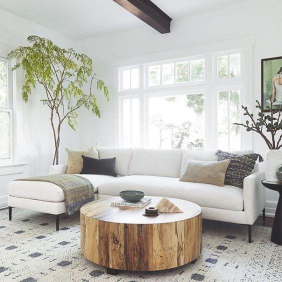 cozy white living room