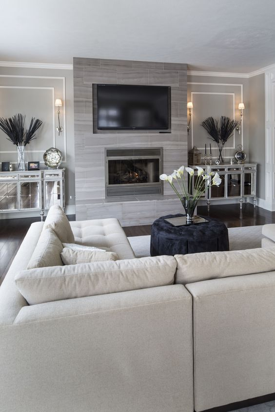 TV and fireplace for living room