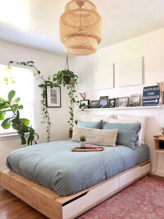 simple fresh and cozy bedroom