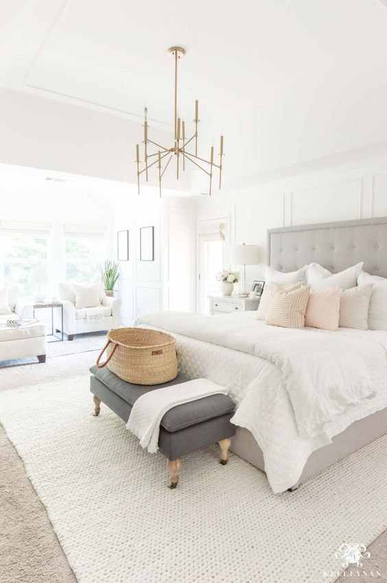 fresh white bedroom