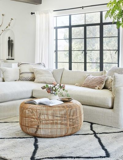 rattan living room table