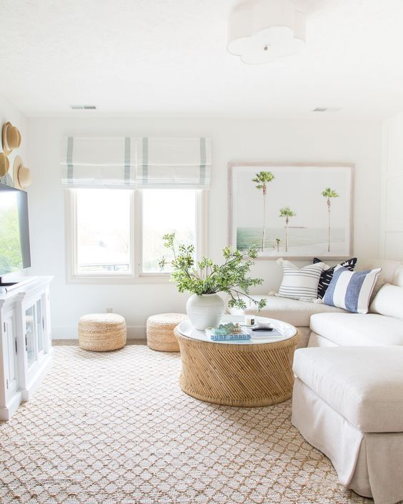 simple coastal living room