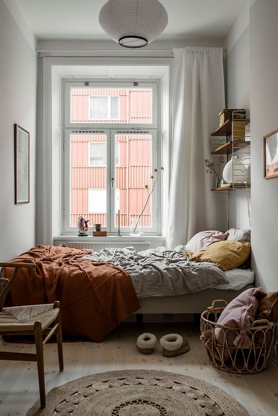 bright bedroom by presenting natural lighting