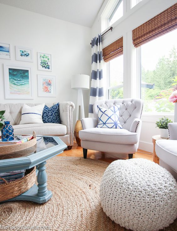 coastal design for summer living room