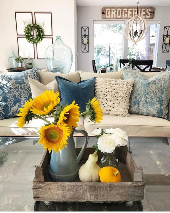 sunflower living room decor