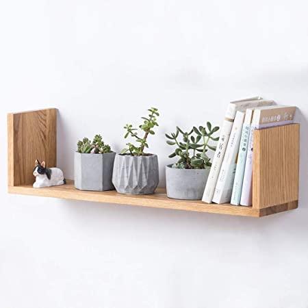 u shaped floating wall shelf