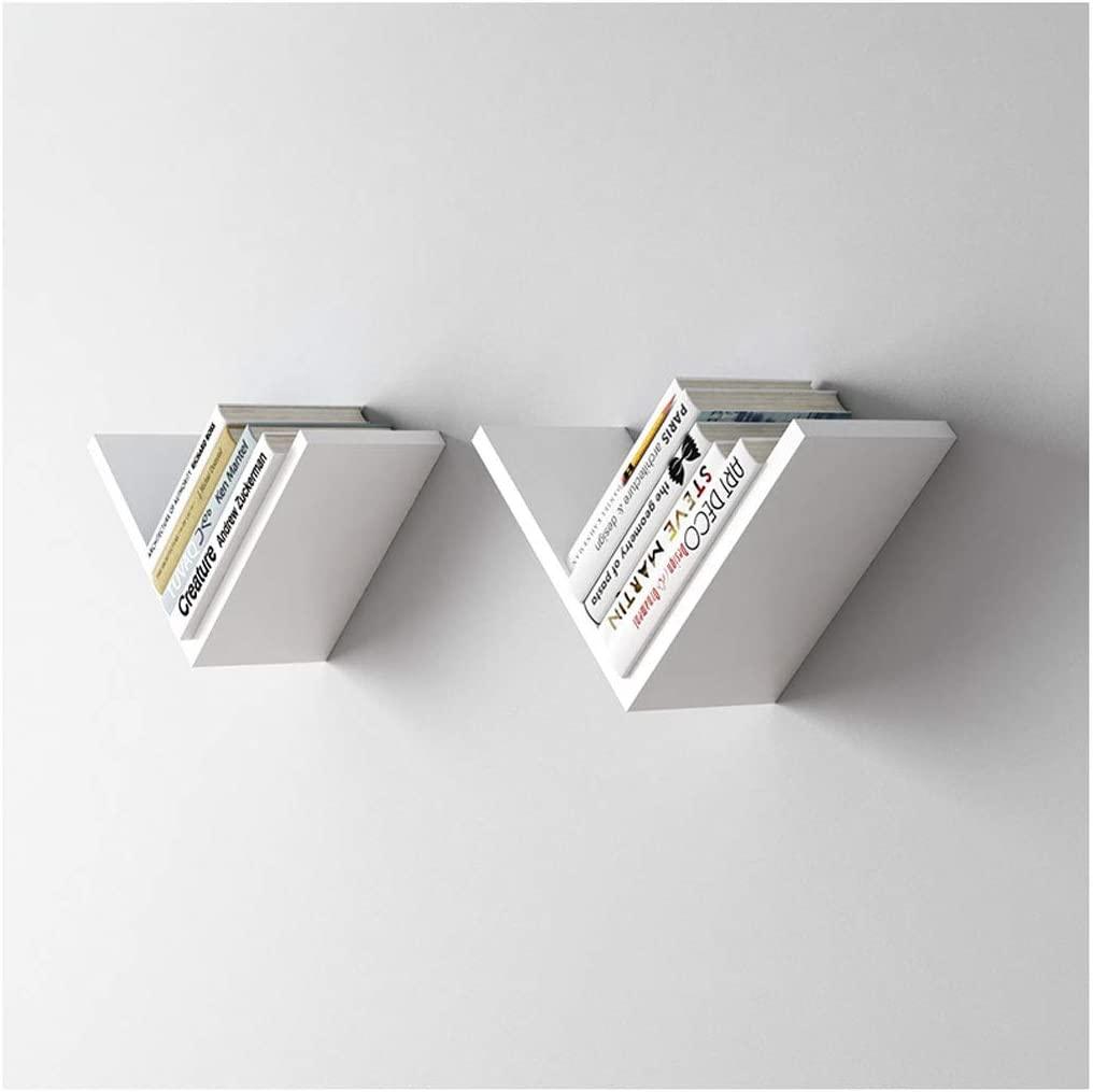 v shaped floating wall shelf