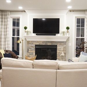 fireplace decor with LED TV