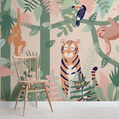 beautiful animal wall mural