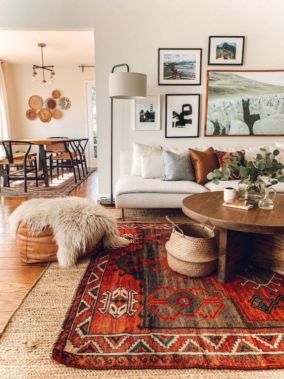 big carpet for autumn living room design