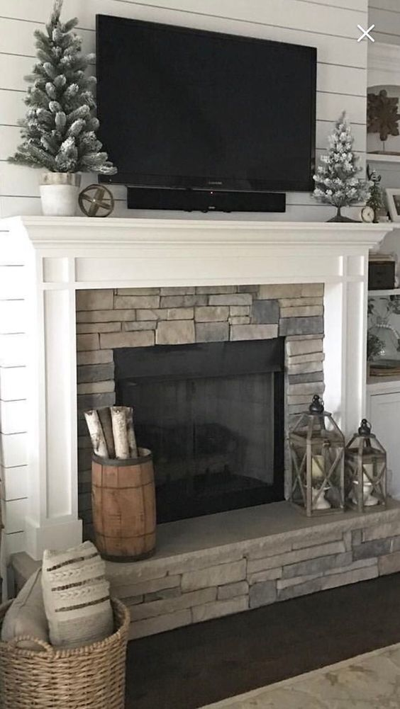televition as a fireplace decor