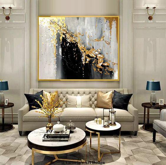 luxury living room painting