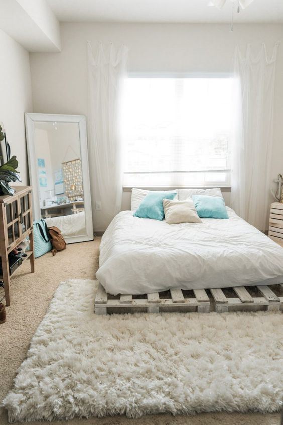 bright simple bedroom