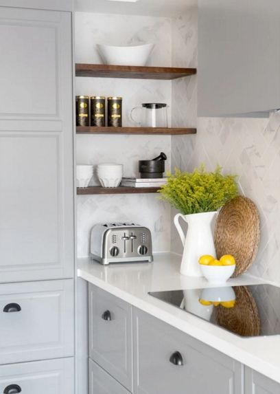soft look of simple kitchen