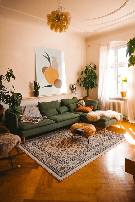 calm simple living room