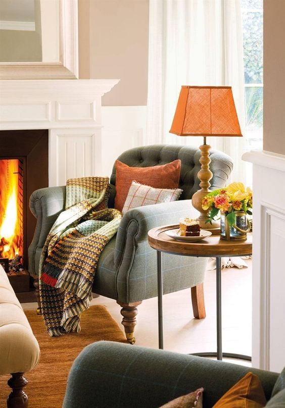 cozy autumn living room sofa