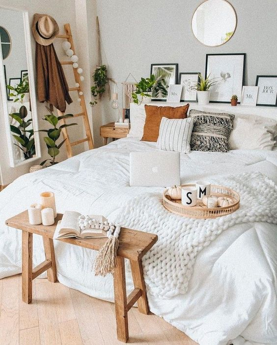 fresh cozy bedroom