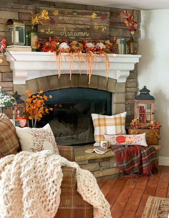 fireplace as a cozy spot