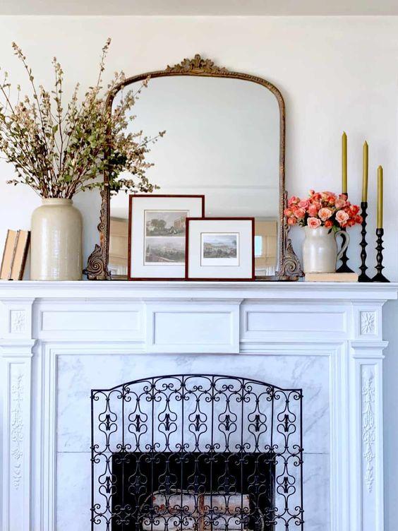 beautiful fireplace decor