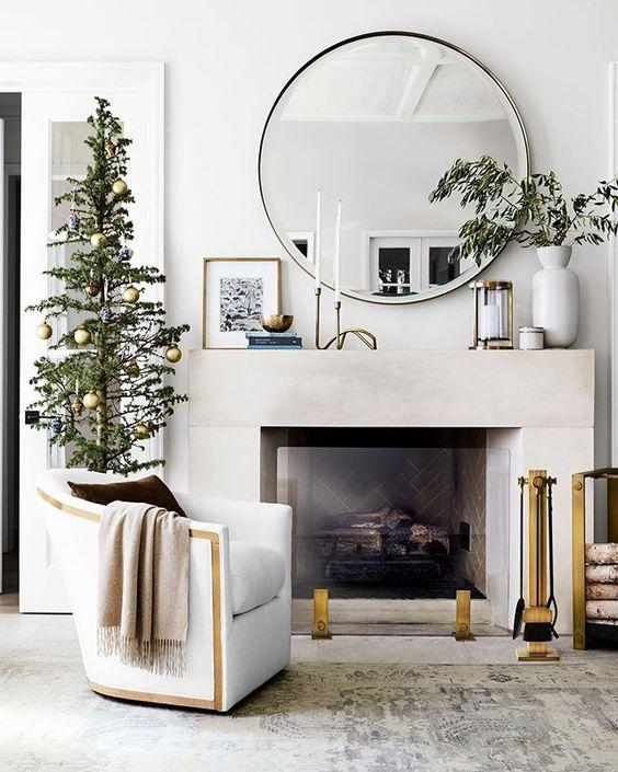 fireplace decor mirror