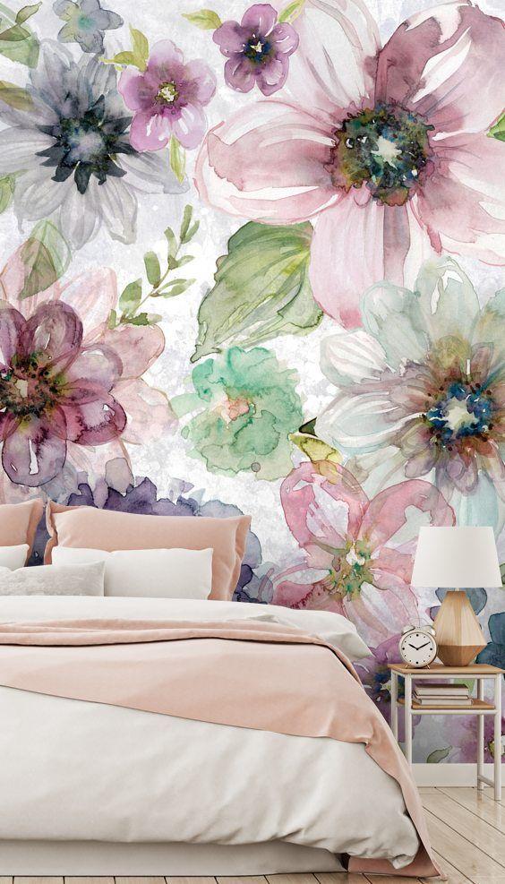 beautiful bedroom wall mural