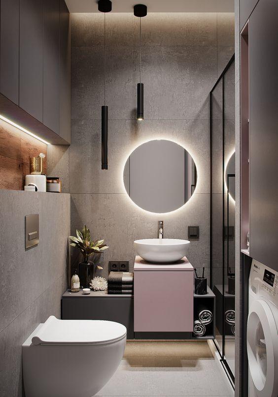 LED mirror in the bathroom