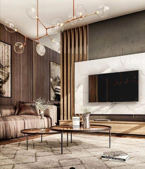 mirror luxury living room decor