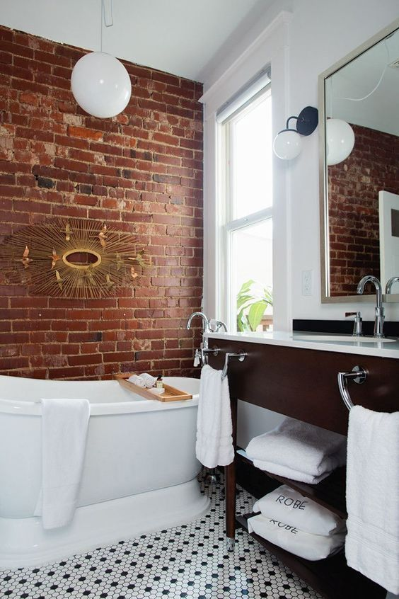 cozy bathroom with natural elements