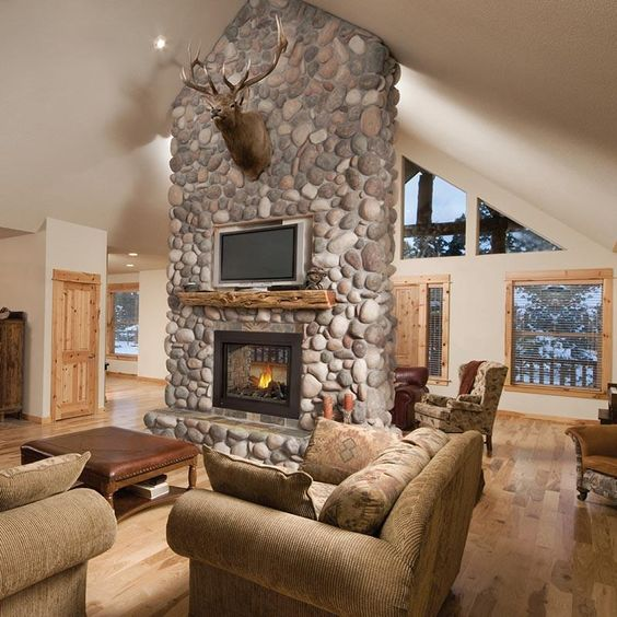 natural stones living room