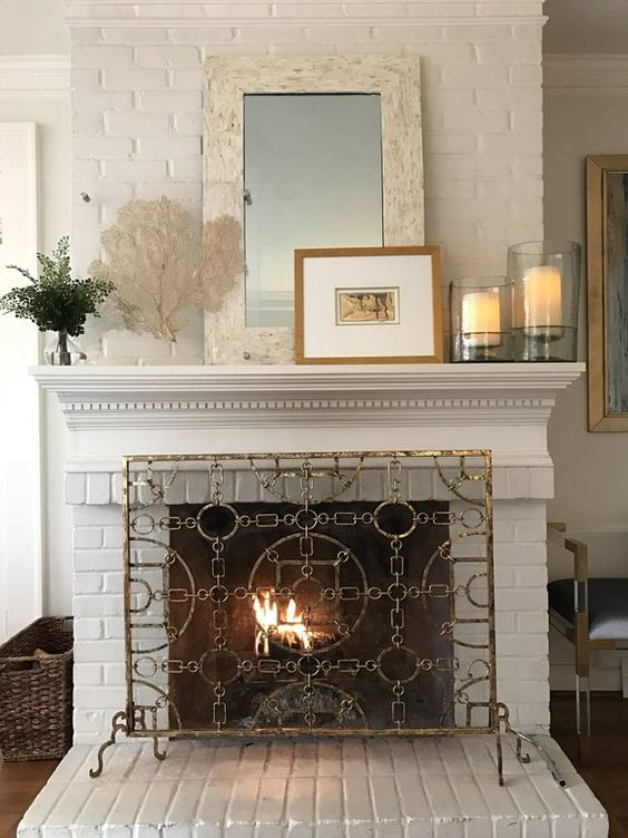 mirror for fireplace decor
