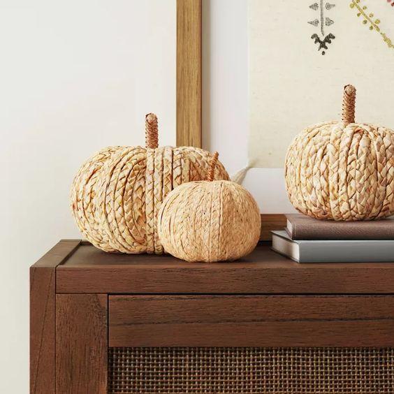 pumpkin shaped decor