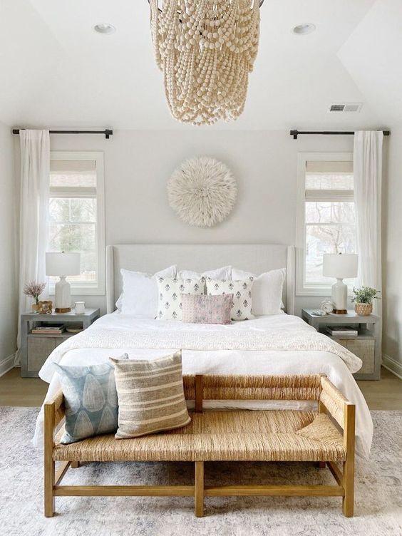 rattan bench for bedroom