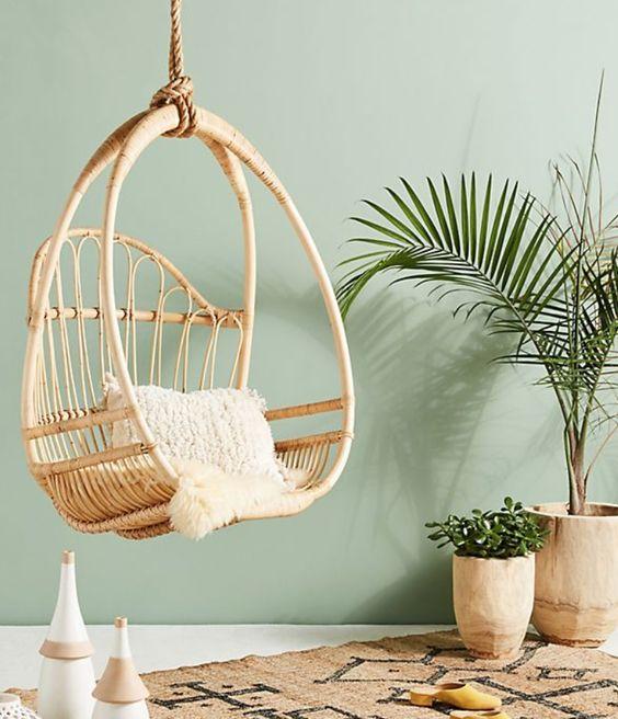 cozy rattan hanging chair