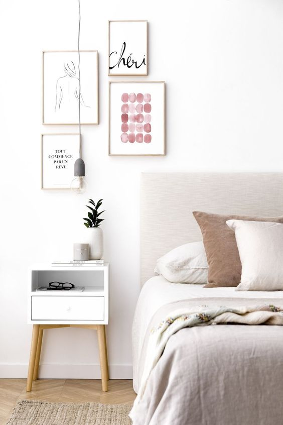 bedroom wall displays