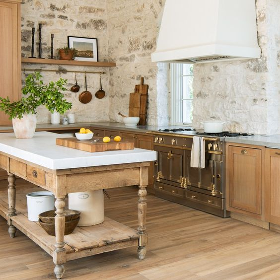 kitchen with nature nuances