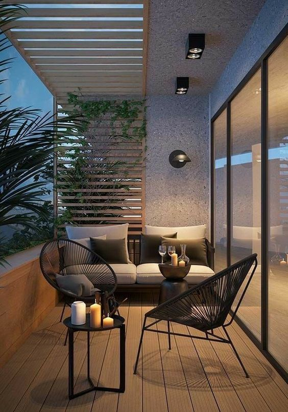 beautiful simple small terrace