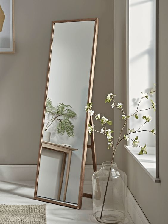 stand mirror for corner room decor