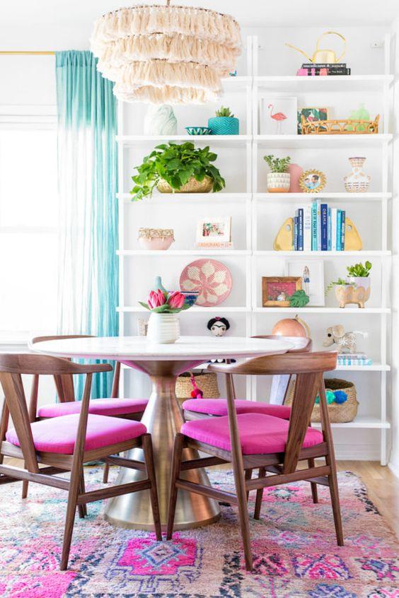 cheerful dining room decoration