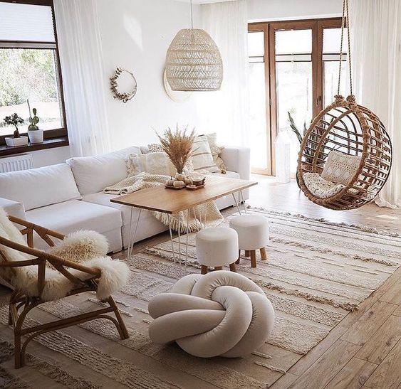 cozy minimalist living room