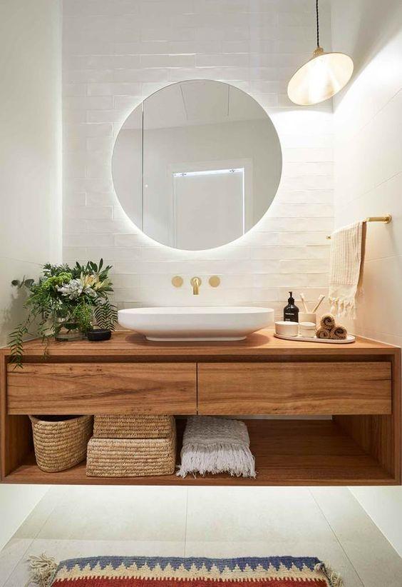 soft bathroom look