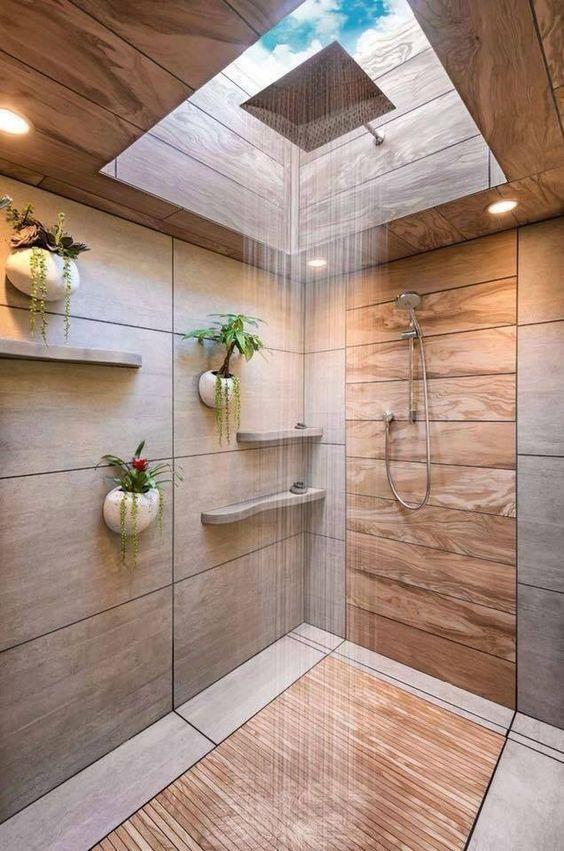 cozy nature bathroom